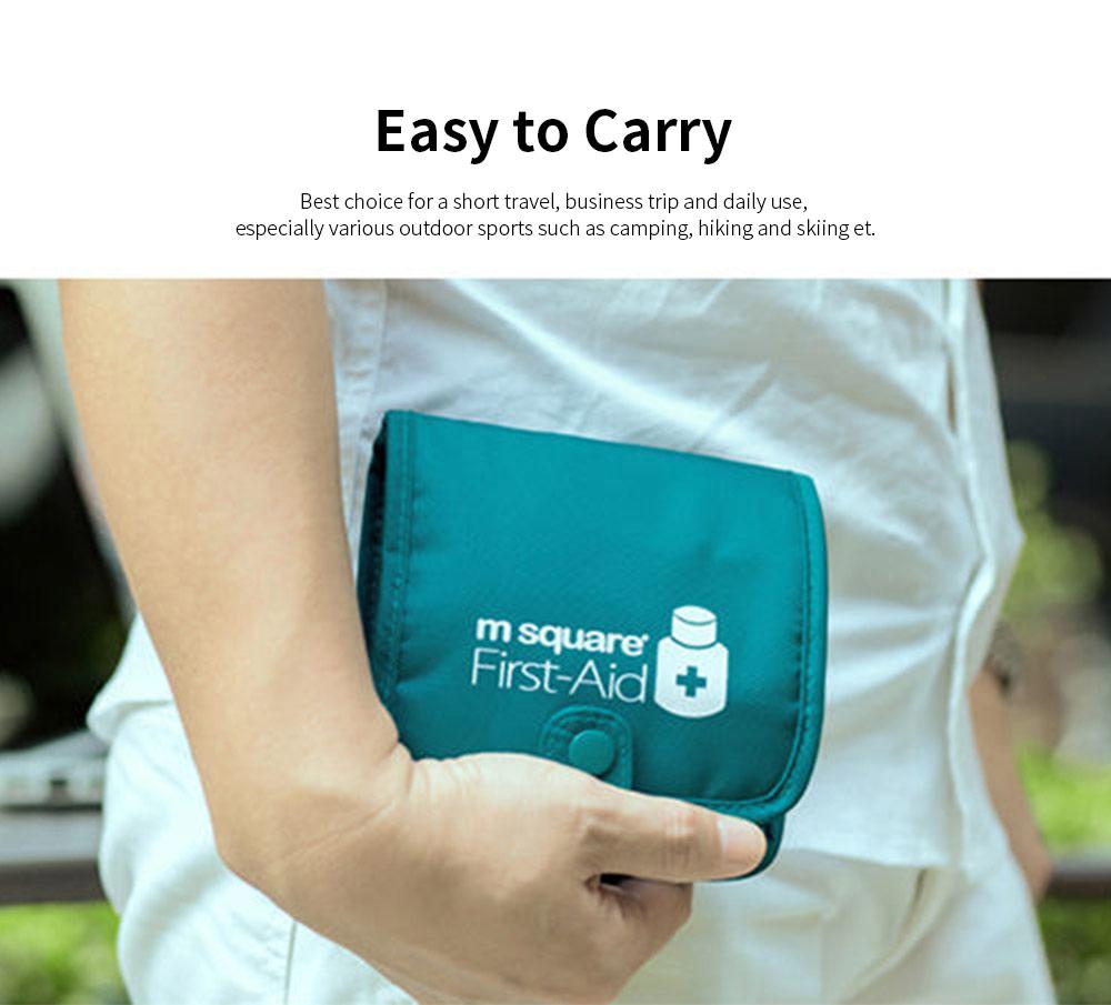 m square Travel BPA Free Plastic Pill Box Case 6 Compartments Pill Organizer Portable Tablet Holder 1
