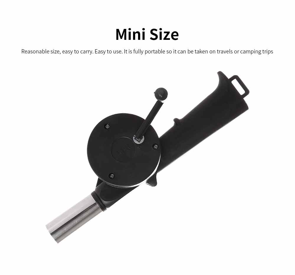 Portable Manual Air Blower Outdoor Cooking BBQ Micro Air Blower Burner for Barbecue Picnic Travel Lighter Tools 2