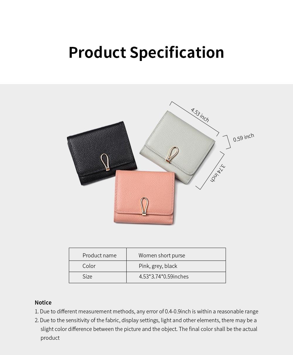 Premium Women Short Purse Multi-layer Cowhide Fashion Wallets Bifold Vintage Money Clip Gifts for Women Girl 6