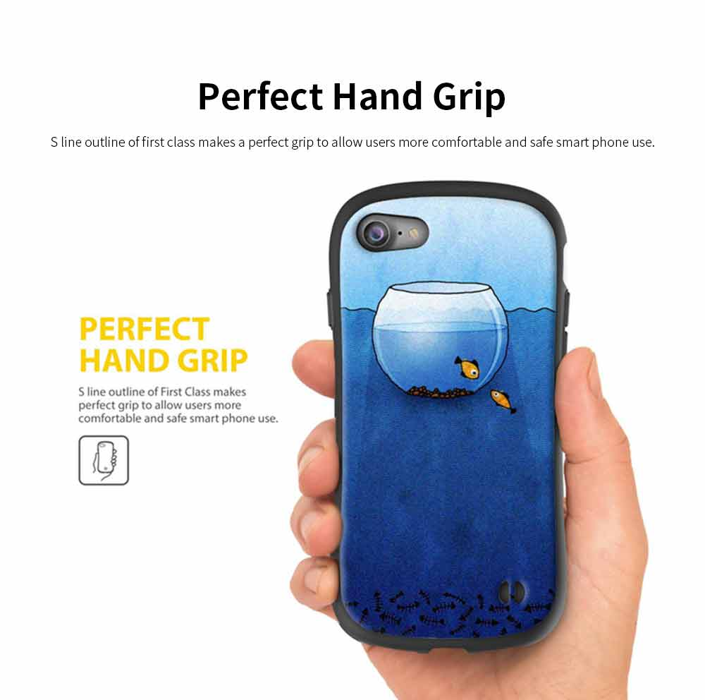 Creative Phone Case Anti-scratches Anti-impact Back Case Cover Soft Silicone Phone Protector for iPhone 6s, 6s plus, 7plus, 8plus, XS 4