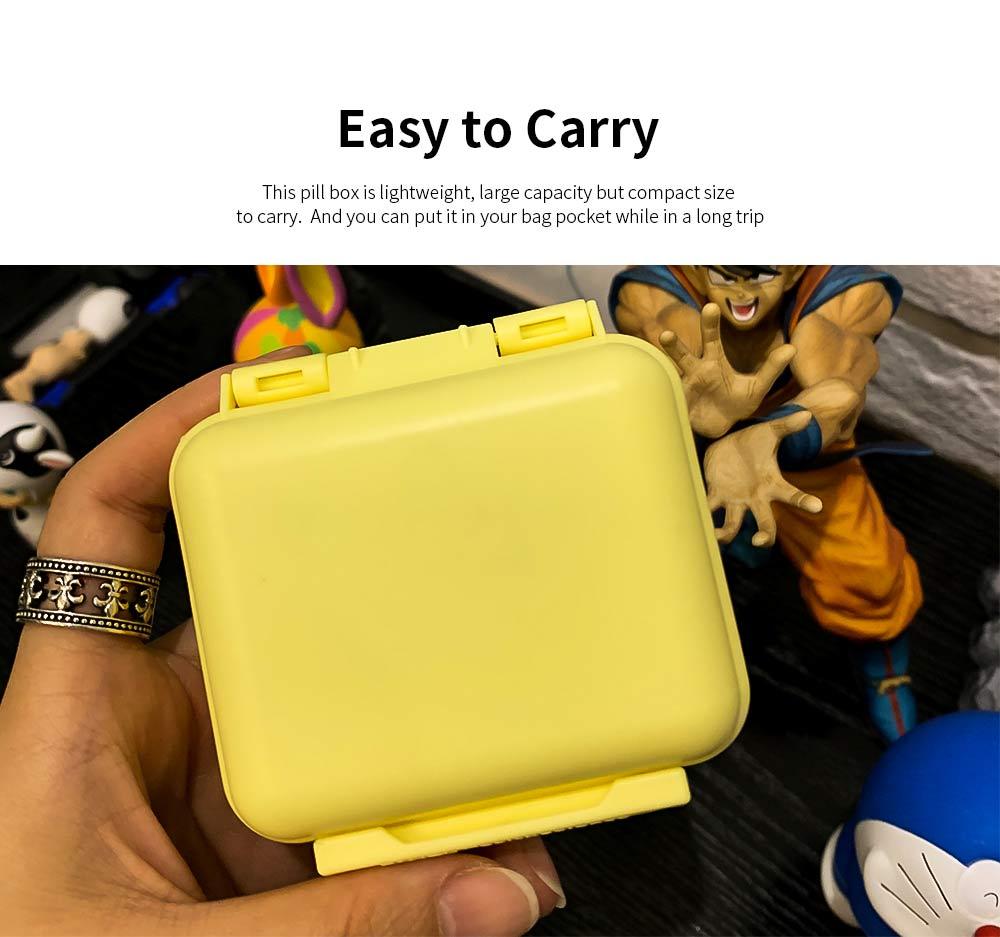 Square Pill Box Fashion Double-layer Plastic Pill Box Case 6 Small Boxes Pill Organizer Portable Tablet Holder 1