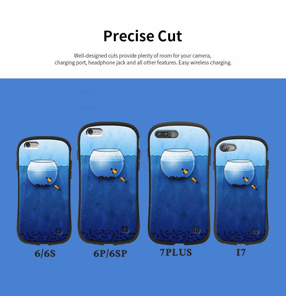 Creative Phone Case Anti-scratches Anti-impact Back Case Cover Soft Silicone Phone Protector for iPhone 6s, 6s plus, 7plus, 8plus, XS 5