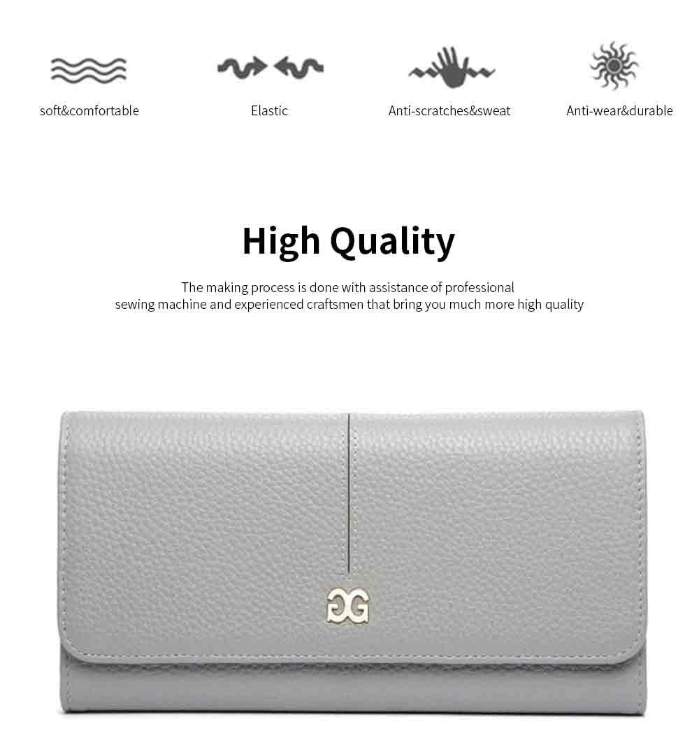 Genuine Women Long Purse Multi-layer Cowhide Slim Wallets Bifold Vintage Money Clip Pretty Gifts for Women Girl 1