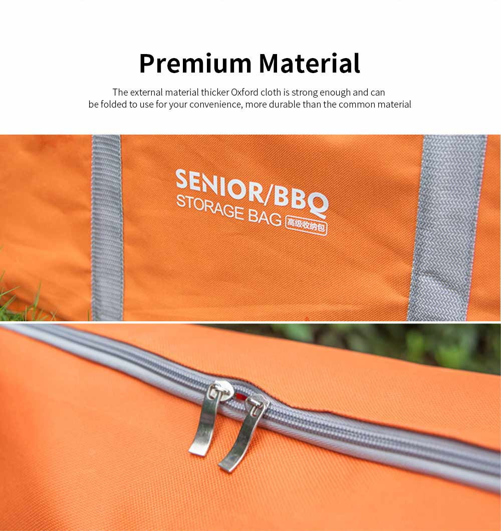 Outdoor Camping Tools Storage Bag Thicker Oxford Cloth Large Capacity Handbag Camping Site Portable Organizer 3