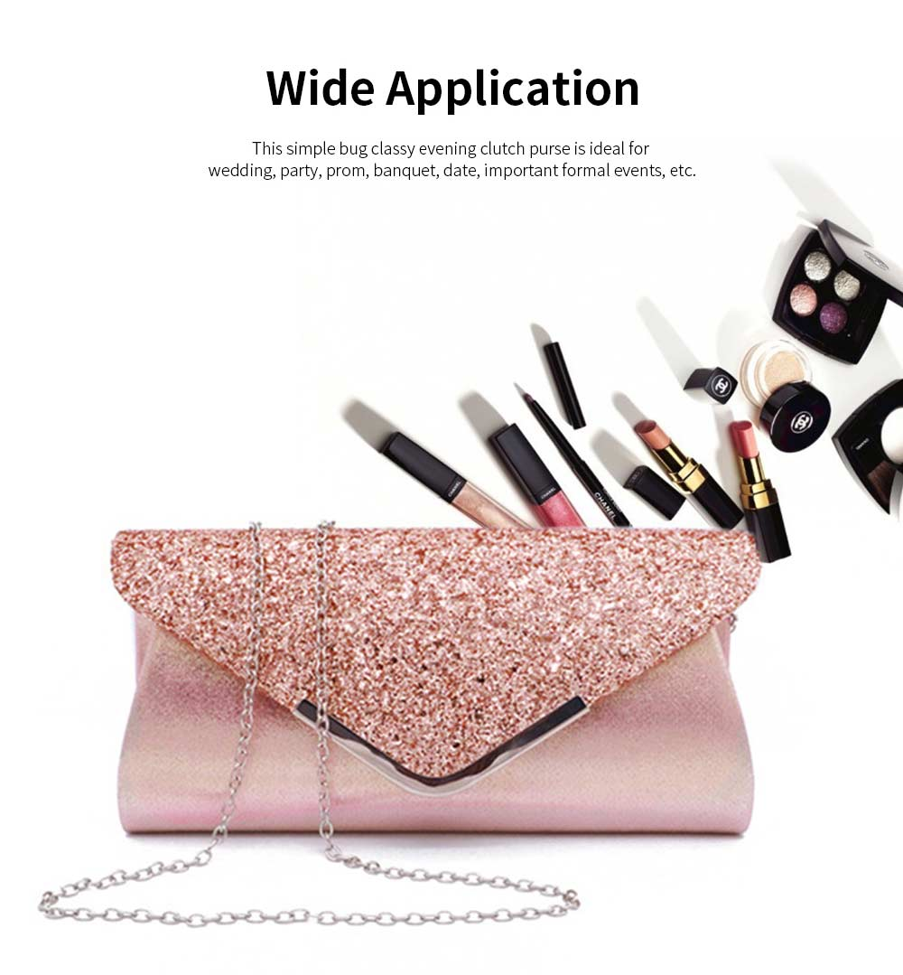 Women Evening Clutch PU Leather Sequin Handbags Hand Catching Bag Clutch Bag Make Up Bag Banquet Bag 1