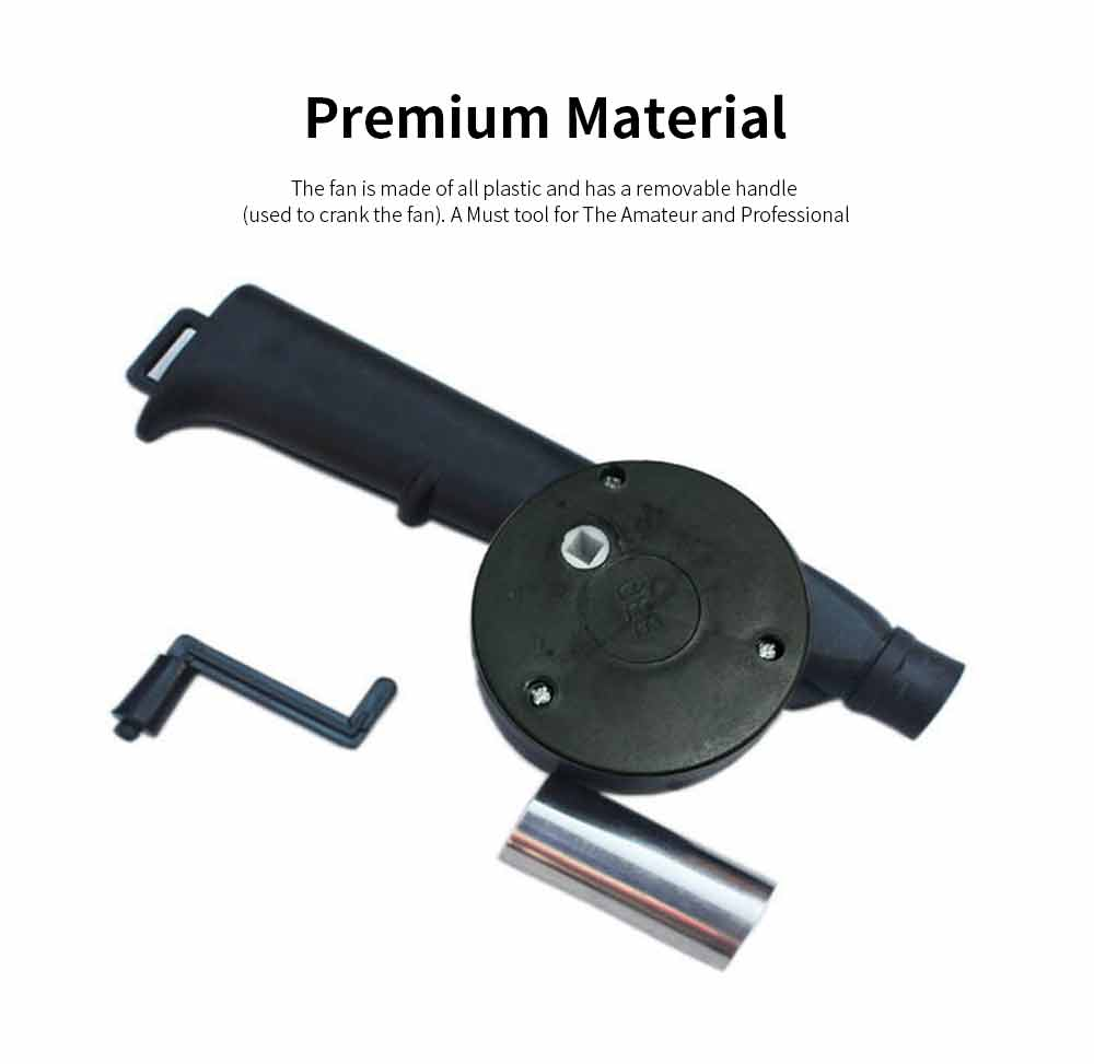 Portable Manual Air Blower Outdoor Cooking BBQ Micro Air Blower Burner for Barbecue Picnic Travel Lighter Tools 3