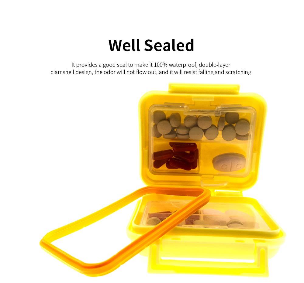 Square Pill Box Fashion Double-layer Plastic Pill Box Case 6 Small Boxes Pill Organizer Portable Tablet Holder 2