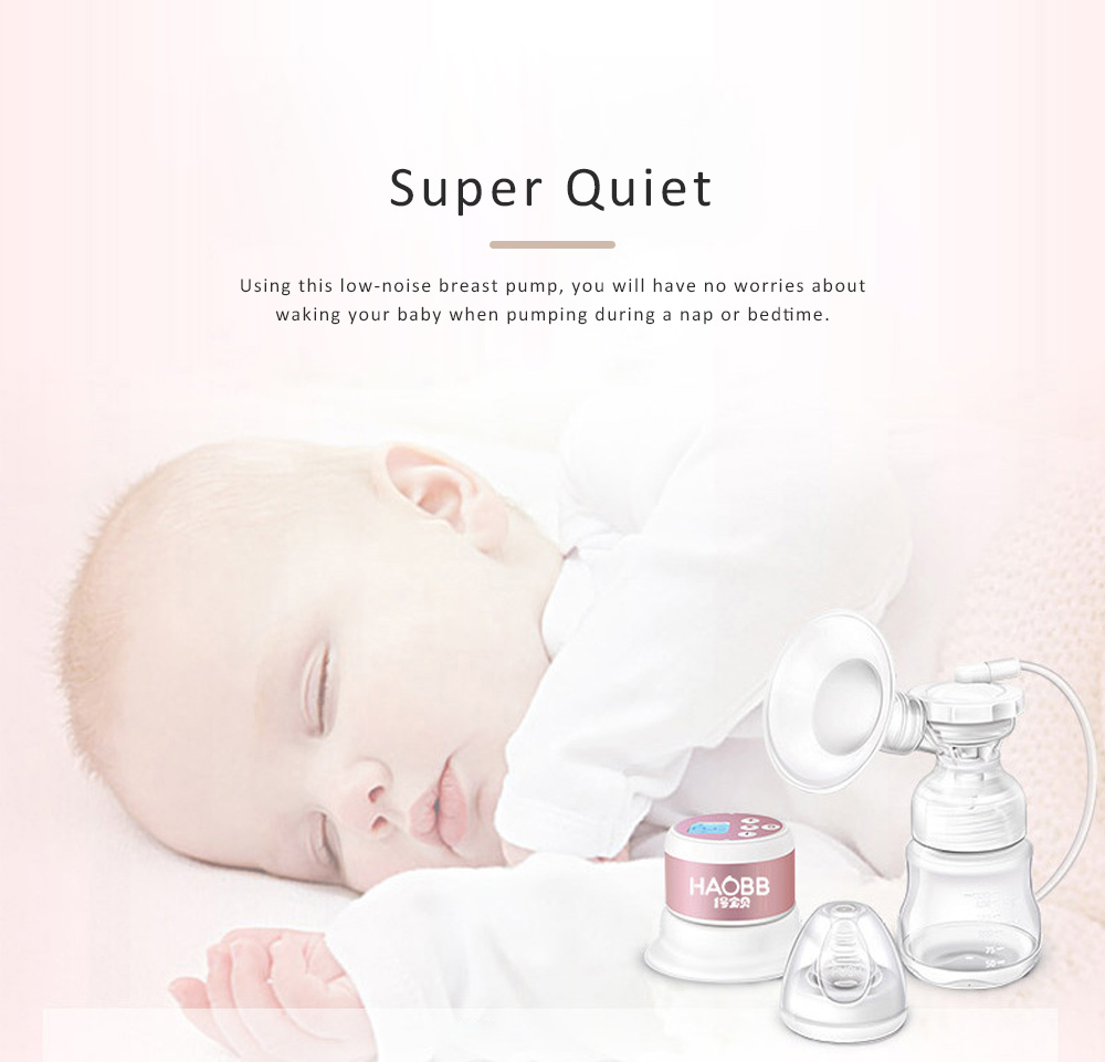 Baby Electric Breast Pump Maternal Silicone Breast Pumping Milk Suction Mute Automatic Massage Pump 2