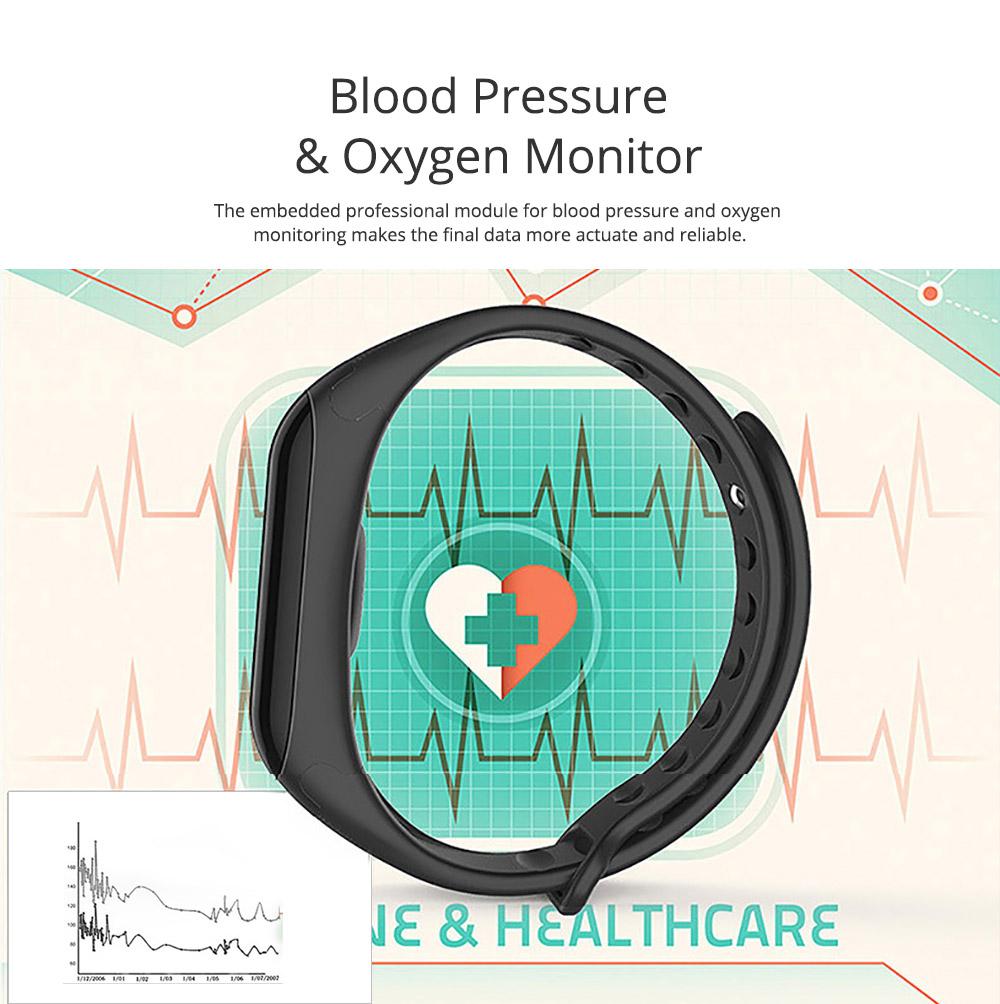 Electronic Watch for Men & Women, Smart Bracelet with Sleep Monitor Calorie Counter, Electronic Sport Bluetooth Bracelet Sportswear 4