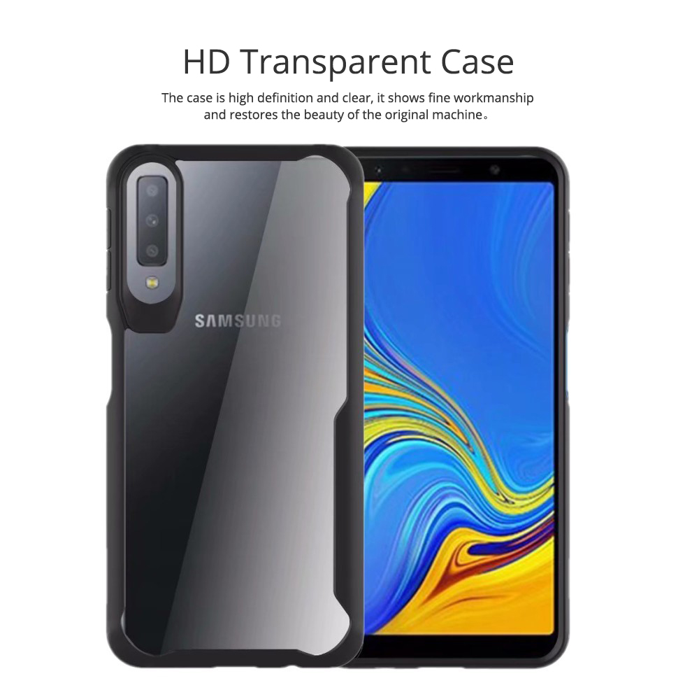 Slim Clear Shockproof Phone Case Soft TPU Case Flexible with Hard PC for Samsung Galaxy A7, A750 1