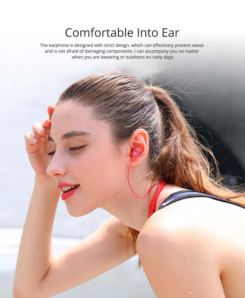 Earplug Running Headphones, Ear Neck Type with Four Core Sound Quality, Four Speakers Sound at The Same Time, Independent Audio 3