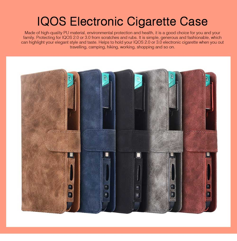 IQOS Electronic Cigarette Holder Case with Card Slot, Multi-Function IQOS3 Electronic Cigarette Protective Cover with Card Holder (Case Only) 0