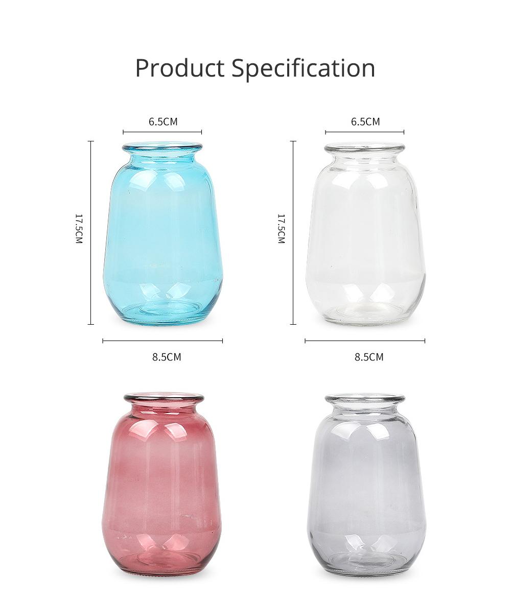 Mini Glass Vases for Centerpieces Cheap Bulk Large Diameter Glass Vase Transparent Vase for Fresh Cut Flowers Dish Table Decorative Vase 4