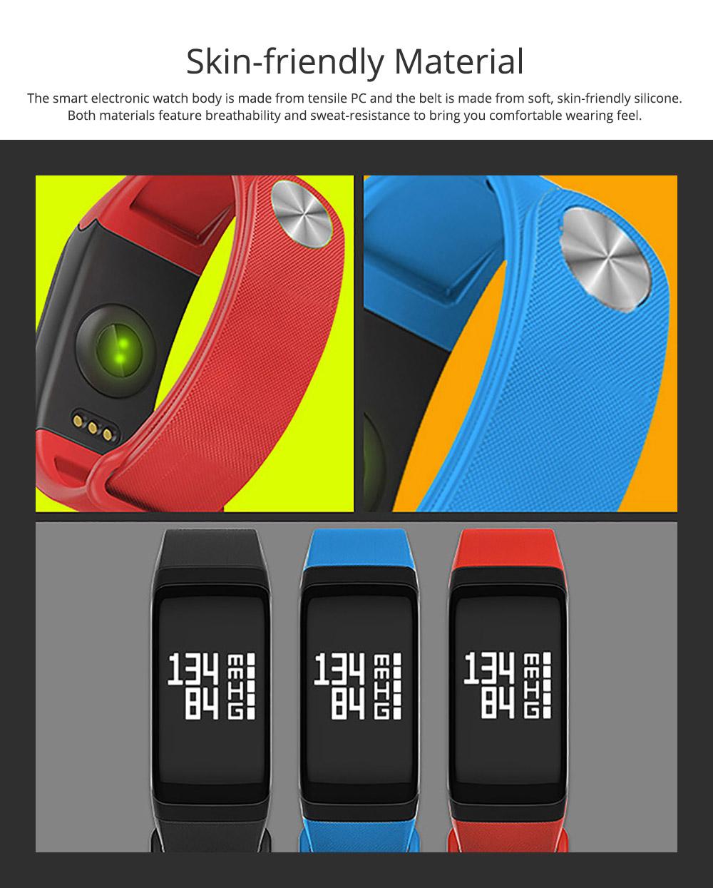 Electronic Watch for Men & Women, Smart Bracelet with Sleep Monitor Calorie Counter, Electronic Sport Bluetooth Bracelet Sportswear 1