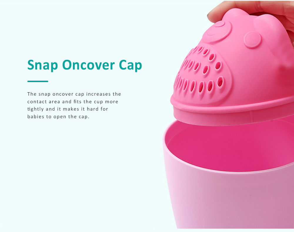 Bear Model Baby Shampoo Rinser Cup, Convenient Portable Hair Wash Bathing Flusher for Infants Shampoo Cup 4
