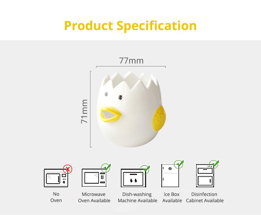 Ceramic Egg Separator for Baking Creative Egg Separator Egg Yolk White Separator Kitchen Gadgets Baking Tool Automatic Separating Bakeware Tool Egg Separator Tool 9