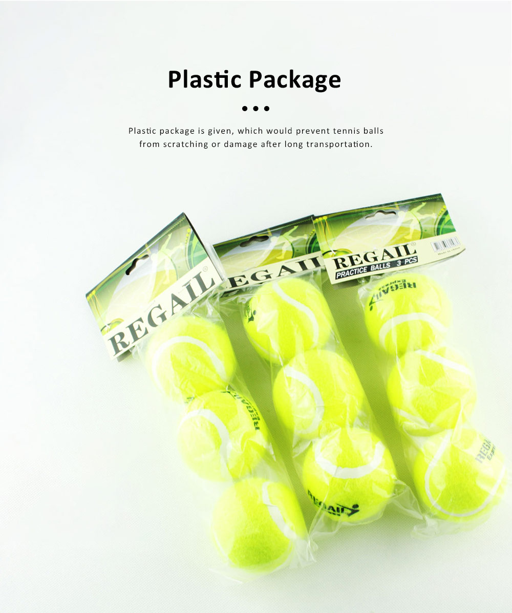 3PCS General Teenagers Training Pressure Tennis Balls Set, Delicate Durable Elastic Rubber Practice Tennis 3
