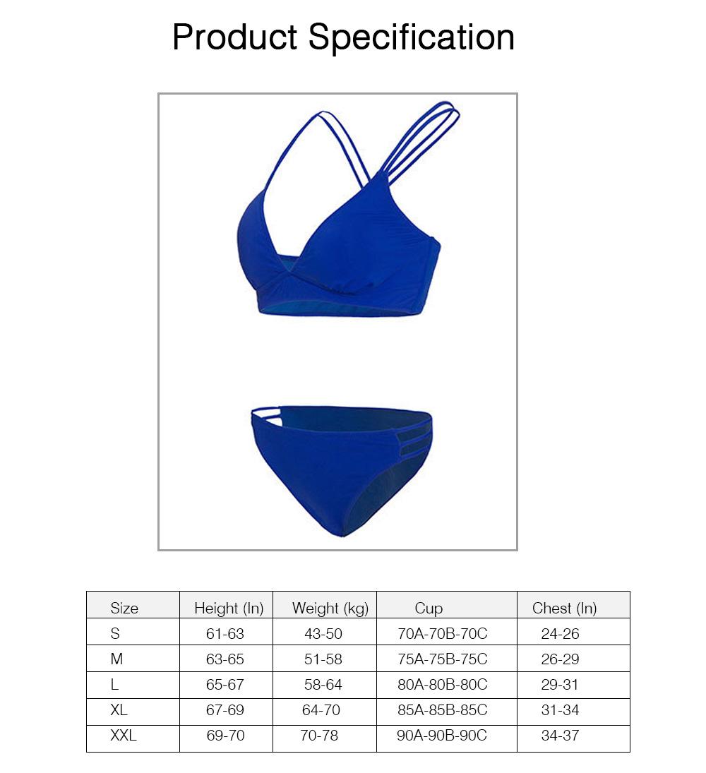 Women's Double Shoulder Straps Bikini, Cozy Ultra-Thin Sexy Triangle Cup Gathered Women's Bikini Set, No Steel Swimming Suit Bikini 7