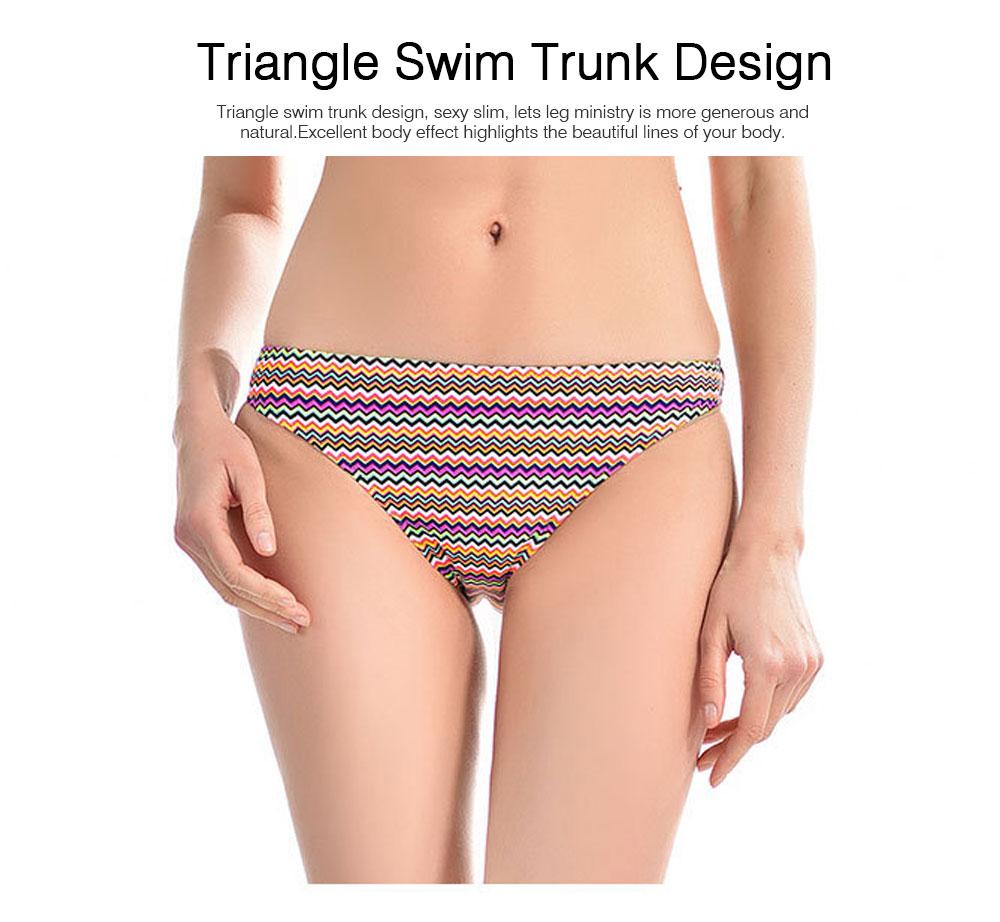 Off Shoulder with Straps Bikini for Girls, Tube Top Split Bikini, Women Sexy Swimwear 2 PCS, Women Colored Lines Popular Off Shoulder Beach Suit 4