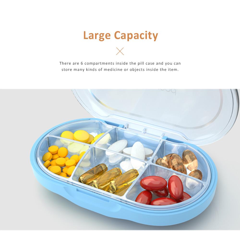 Westwood Tritan BPA Free Weekly Sealed Pill Box with Transparent 6 Slots 4
