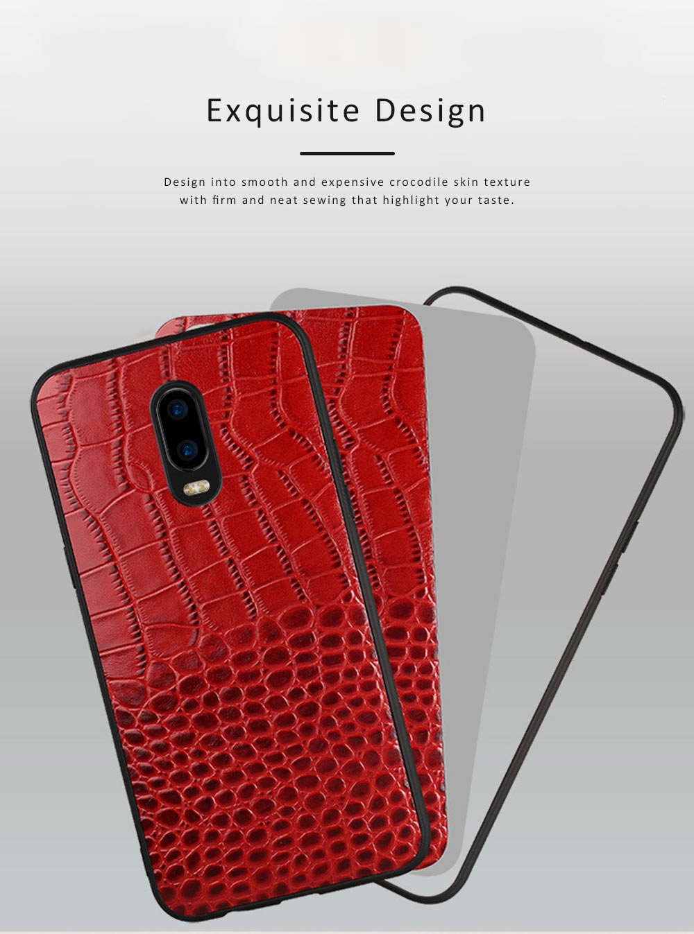 Phone Case Retro Genuine Leather 3D Alligator Skin Texture Case Fashion Phone Accessories for OPPOR Series 3