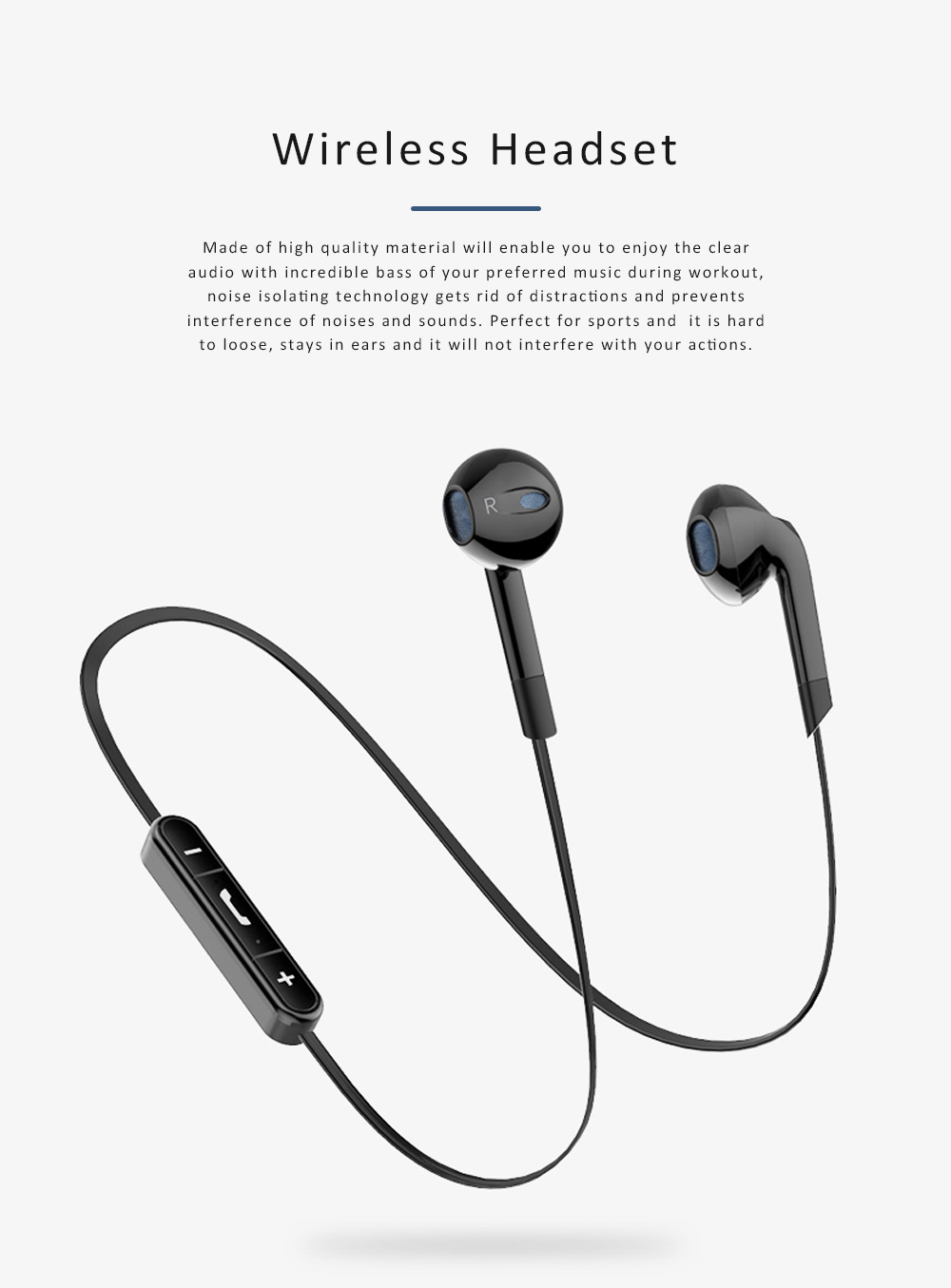 Wireless Sports Bluetooth Headset Android Subwoofer Universal Binaural In-ear Running Hanging Earplugs for iPhone Huawei Millet 0