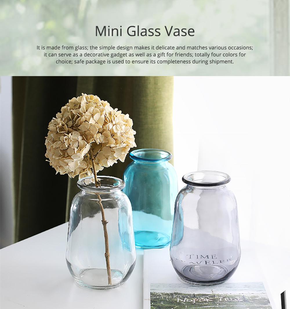 Mini Glass Vases for Centerpieces Cheap Bulk Large Diameter Glass Vase Transparent Vase for Fresh Cut Flowers Dish Table Decorative Vase 0