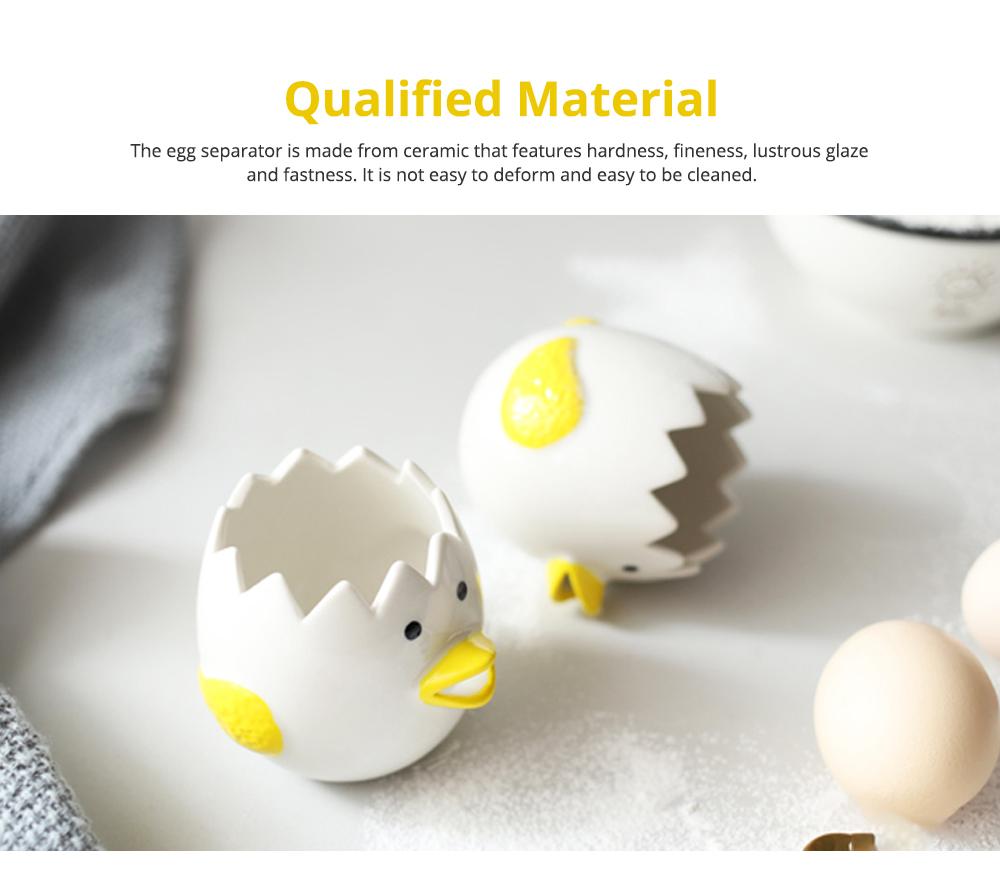 Ceramic Egg Separator for Baking Creative Egg Separator Egg Yolk White Separator Kitchen Gadgets Baking Tool Automatic Separating Bakeware Tool Egg Separator Tool 2