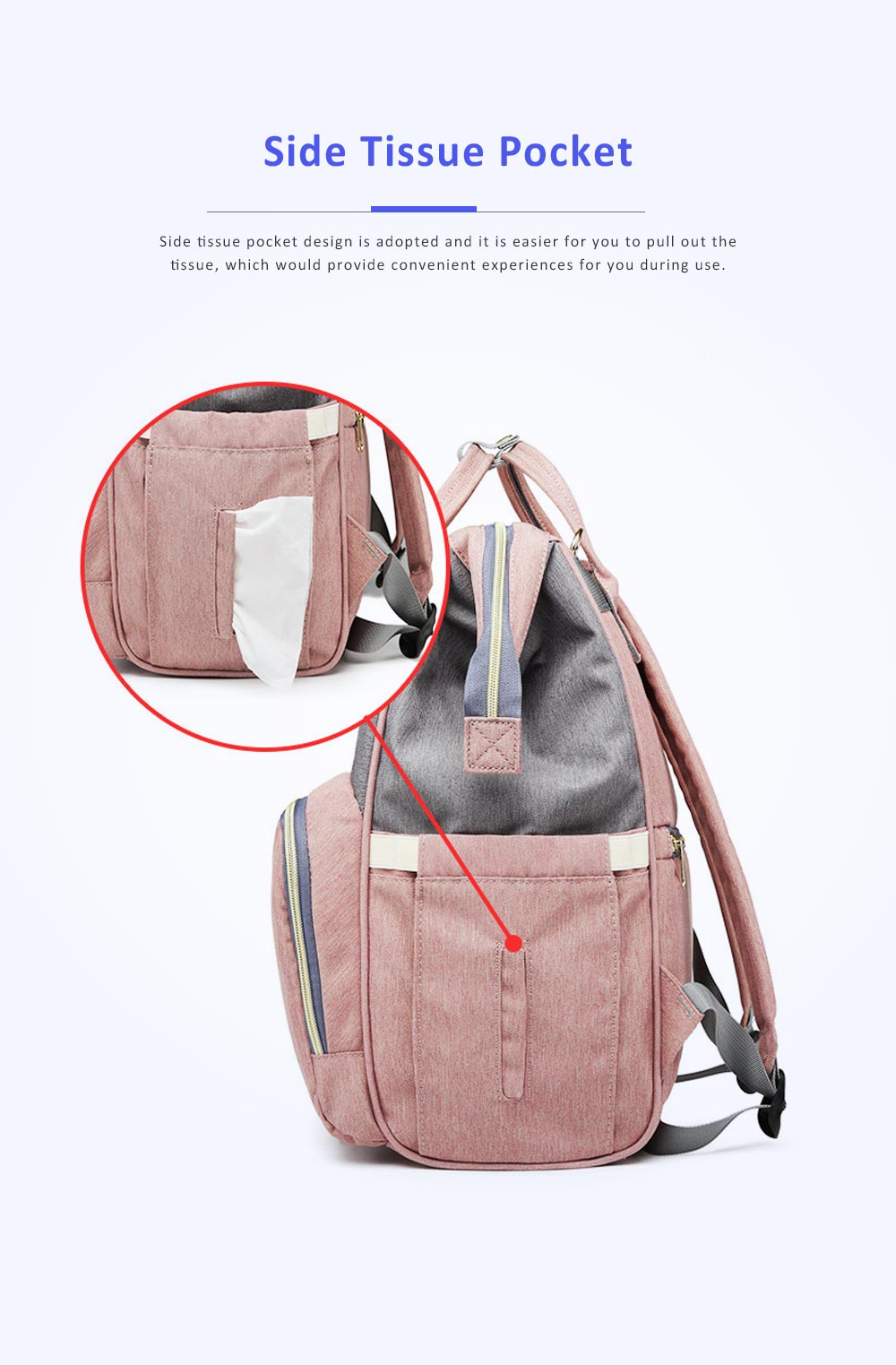 Multifunctional Canvas Baby Diaper Bag, Delicate Luxury Mummy Maternity Nappy Travel Messenger Backpack 6