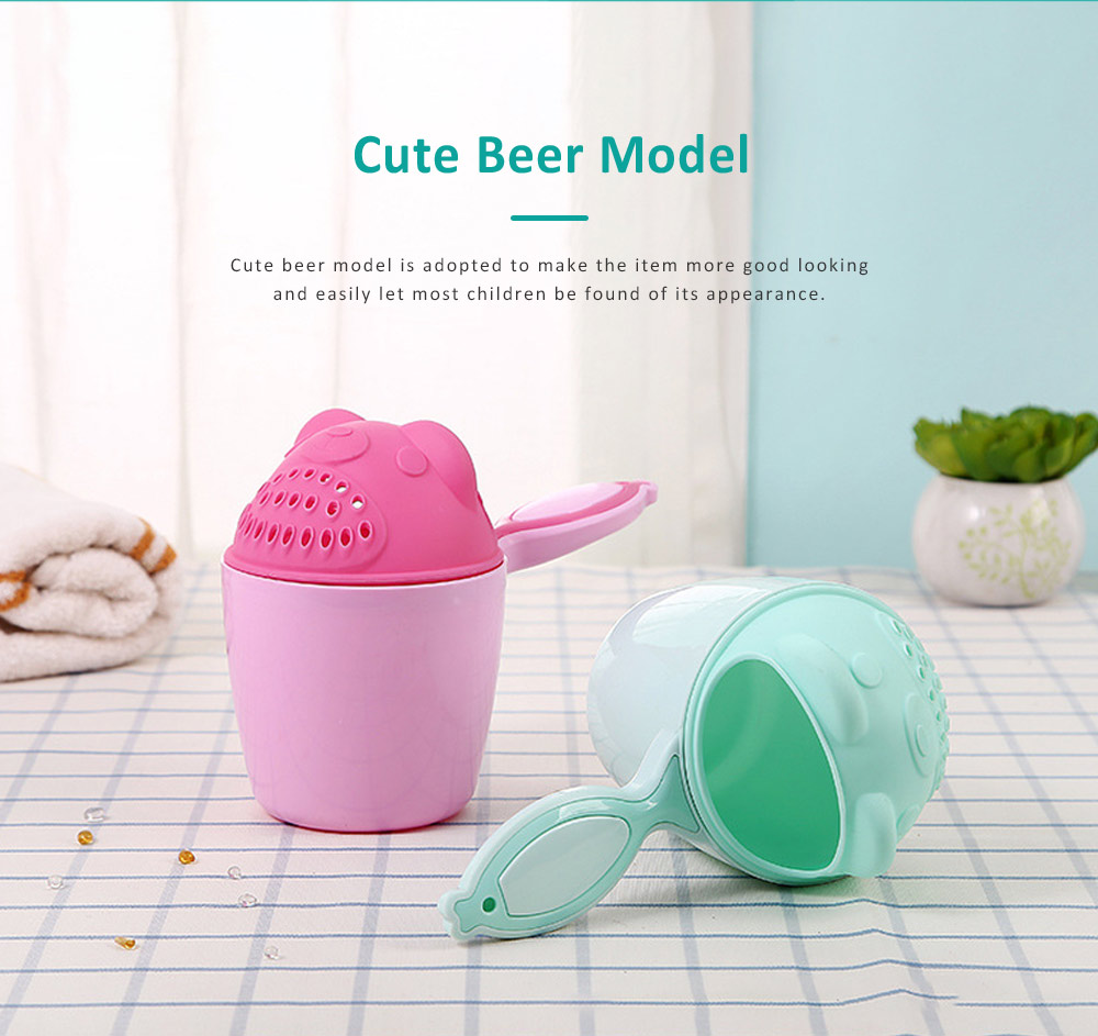 Bear Model Baby Shampoo Rinser Cup, Convenient Portable Hair Wash Bathing Flusher for Infants Shampoo Cup 1