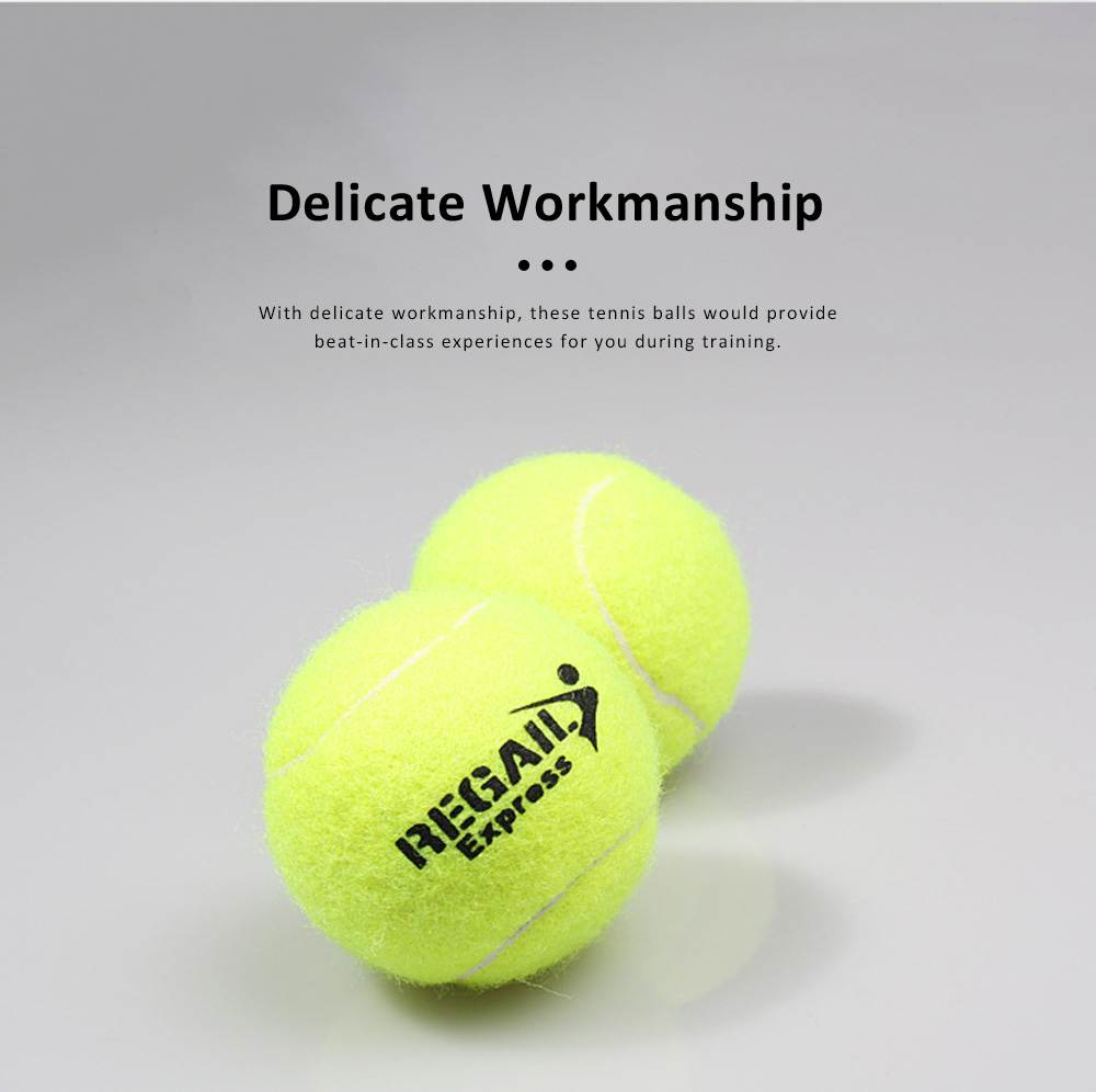 3PCS General Teenagers Training Pressure Tennis Balls Set, Delicate Durable Elastic Rubber Practice Tennis 4