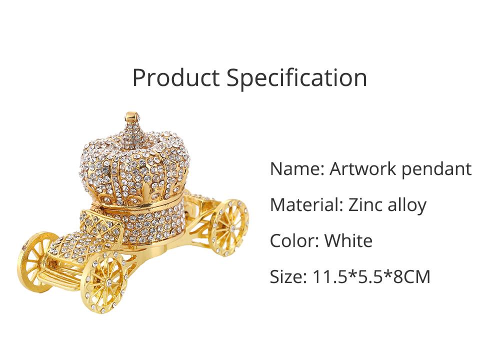 European Style Luxury Jewelry Storage Case, Diamond-mounted Artwork Crown Storage Box with Car-shaped Decoration Ornament  6