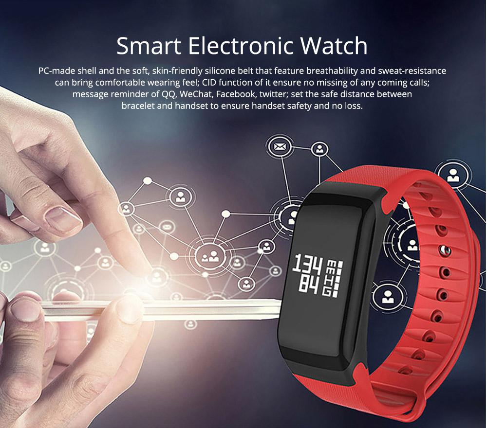 Electronic Watch for Men & Women, Smart Bracelet with Sleep Monitor Calorie Counter, Electronic Sport Bluetooth Bracelet Sportswear 0