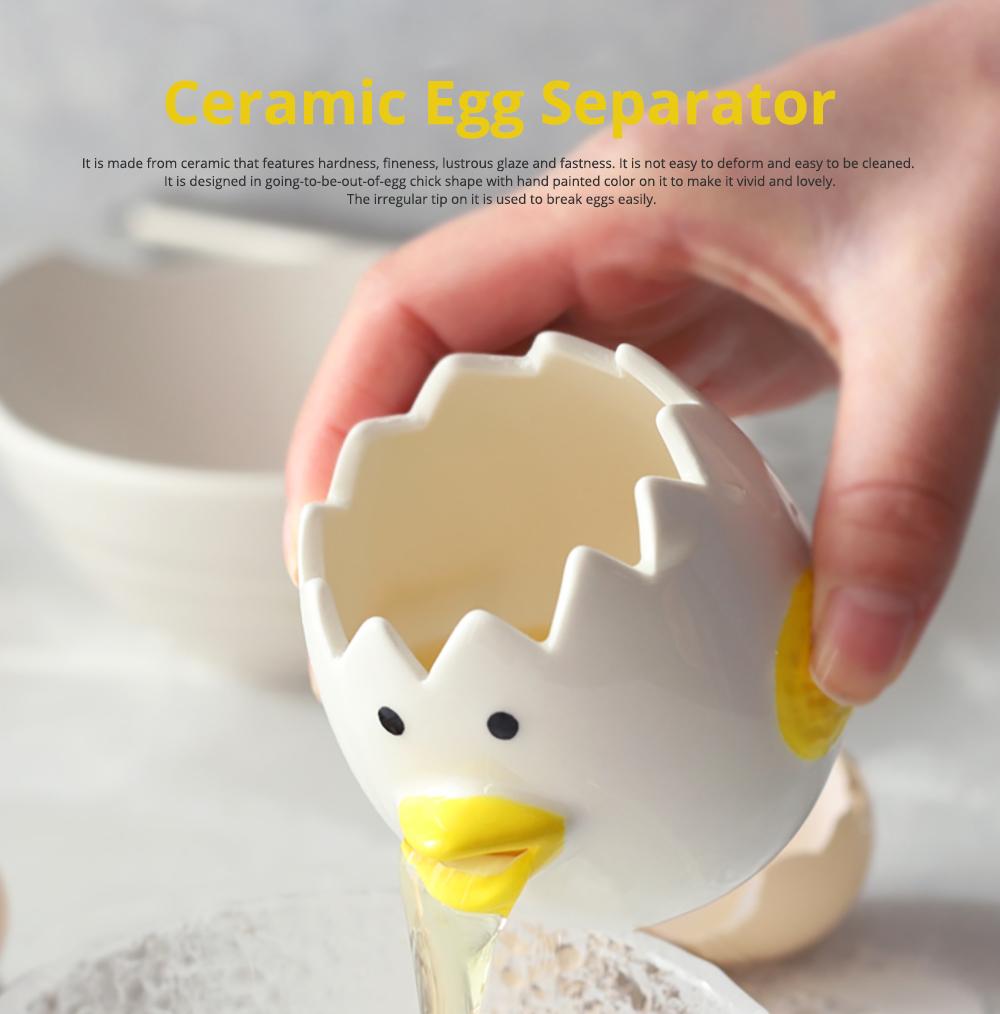 Ceramic Egg Separator for Baking Creative Egg Separator Egg Yolk White Separator Kitchen Gadgets Baking Tool Automatic Separating Bakeware Tool Egg Separator Tool 0