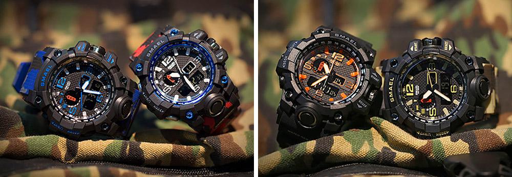 Men's Sports Analog Digital Watch, Waterproof Multifunctional Large Dial Wrist Watch for Men 7