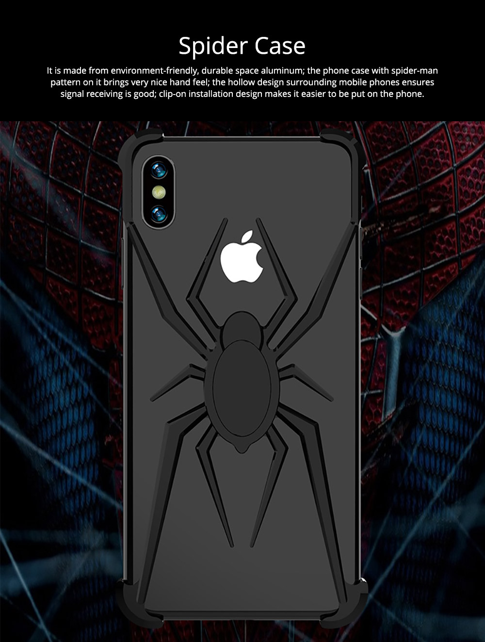 Spider Phone Case iPhone XR iPhone XS iPhone Max Phone Cover with Metal Rim iPhone Accessories Mobile Phone Skins 0
