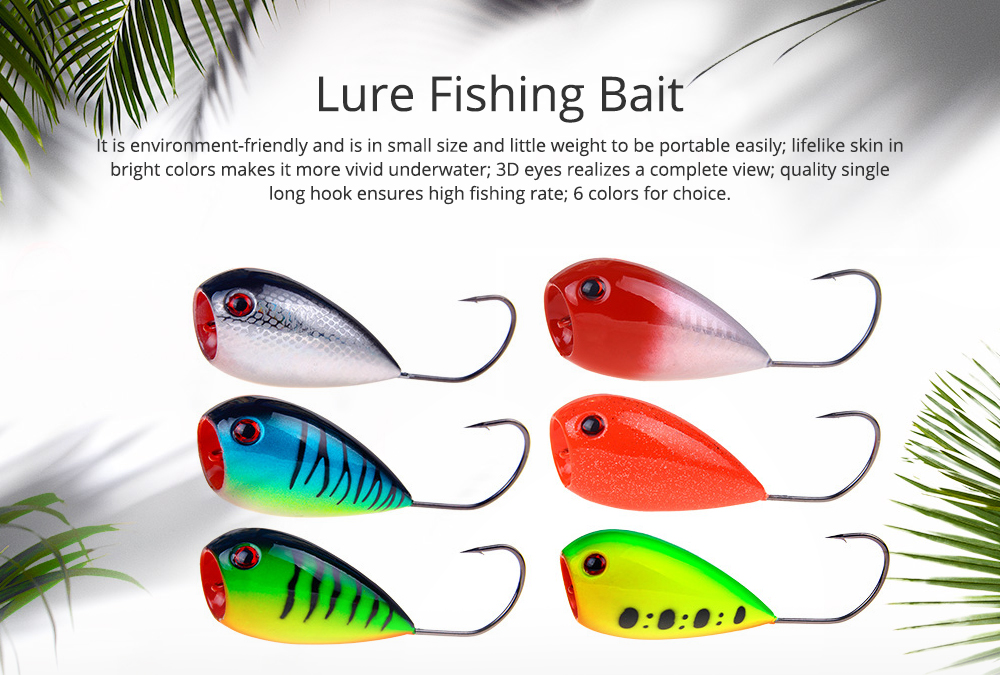 Lure Fishing Bait for Outdoor Fishing Lure Fishing Hard Bait Double Circle Mouth Single Hook Floating Fishing Bait Fishing Lure Fishing Hook Fishing Gear 0