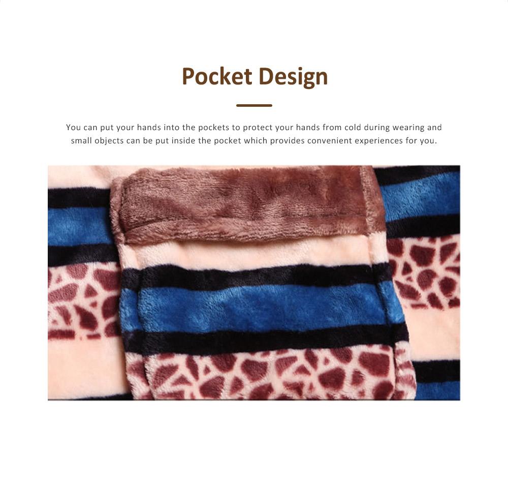Warm Flannel Long Sleeve Men Pajamas Suit, Autumn Winter Luxury Ultra-soft Coral Fleece Lapel Sleepwear Set for Men 5