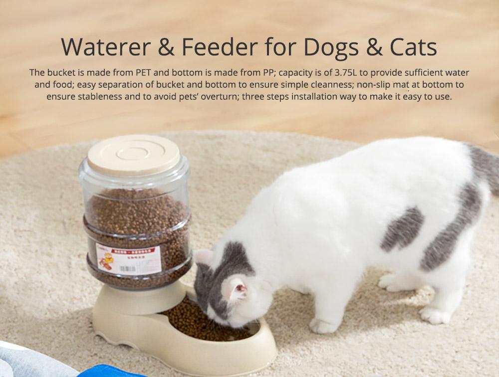 Autonomic Pet Feeder Drinking Fountain for Dogs & Cats, Pet Feeder Waterer Autonomic Feeder, Autonomic Drinking Feeding Tools 0