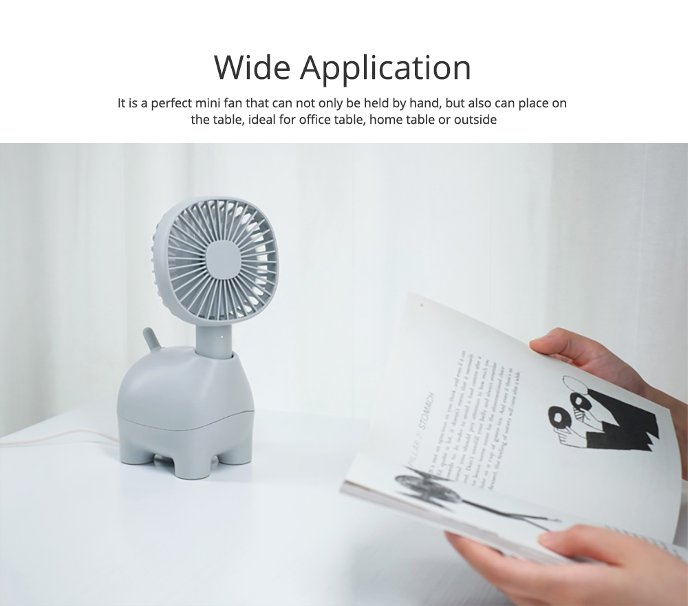 Mini Pet Handheld Fan Oscillating Small Portable Fan with USB Chargeable for Office Table Home Dormitory 8