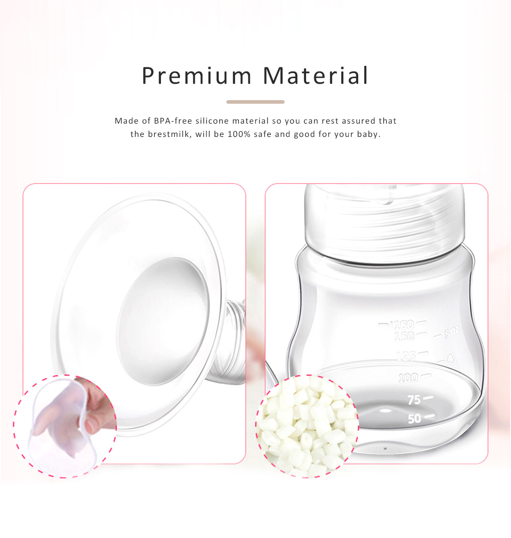 Baby Electric Breast Pump Maternal Silicone Breast Pumping Milk Suction Mute Automatic Massage Pump 1