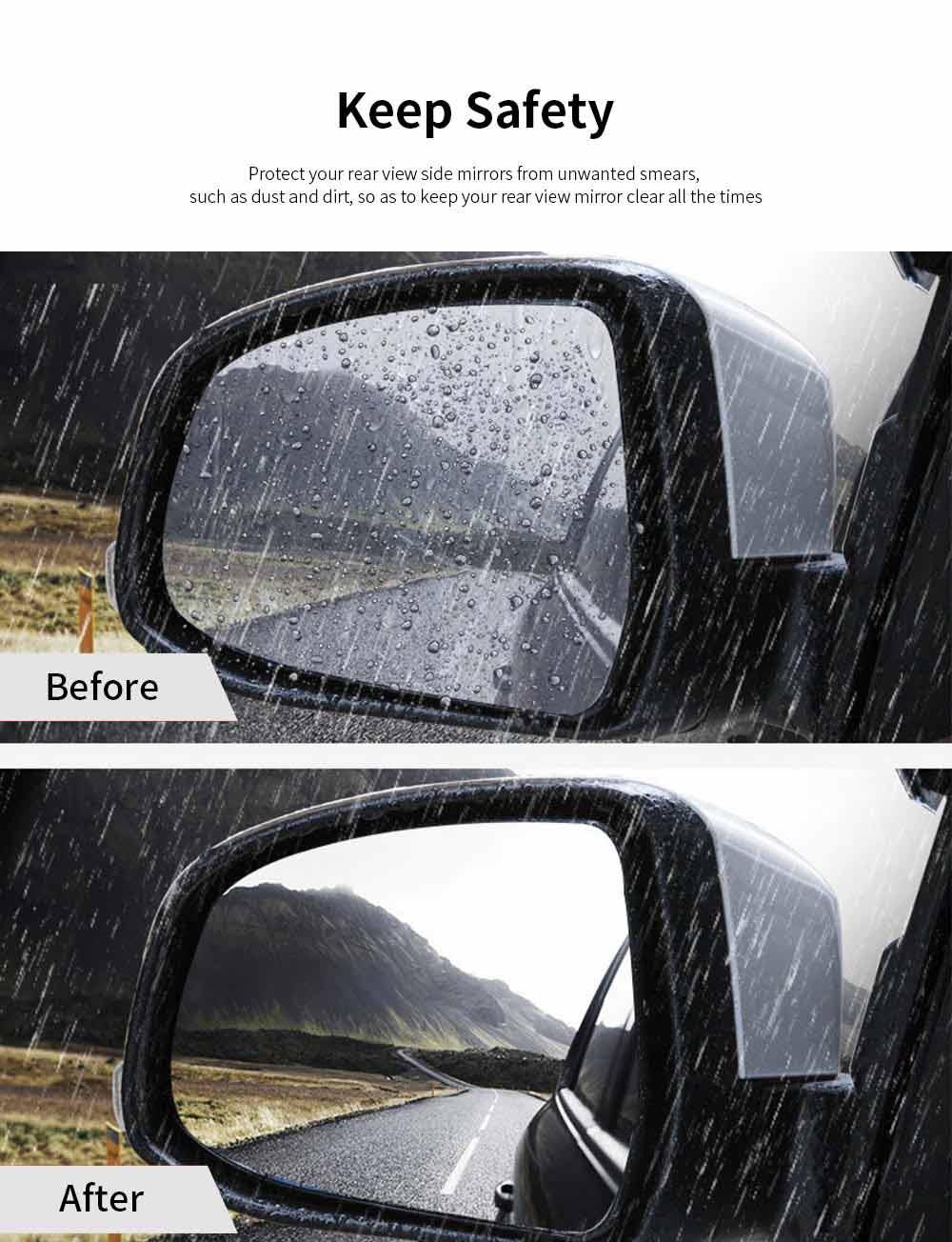 Car Anti Fog Film Anti-Mist Anti-Glare Mirror Waterproof Car Side Mirror Window Protector Film for Toyota Camry RAV4 Highlander PRADO COROLLA 1