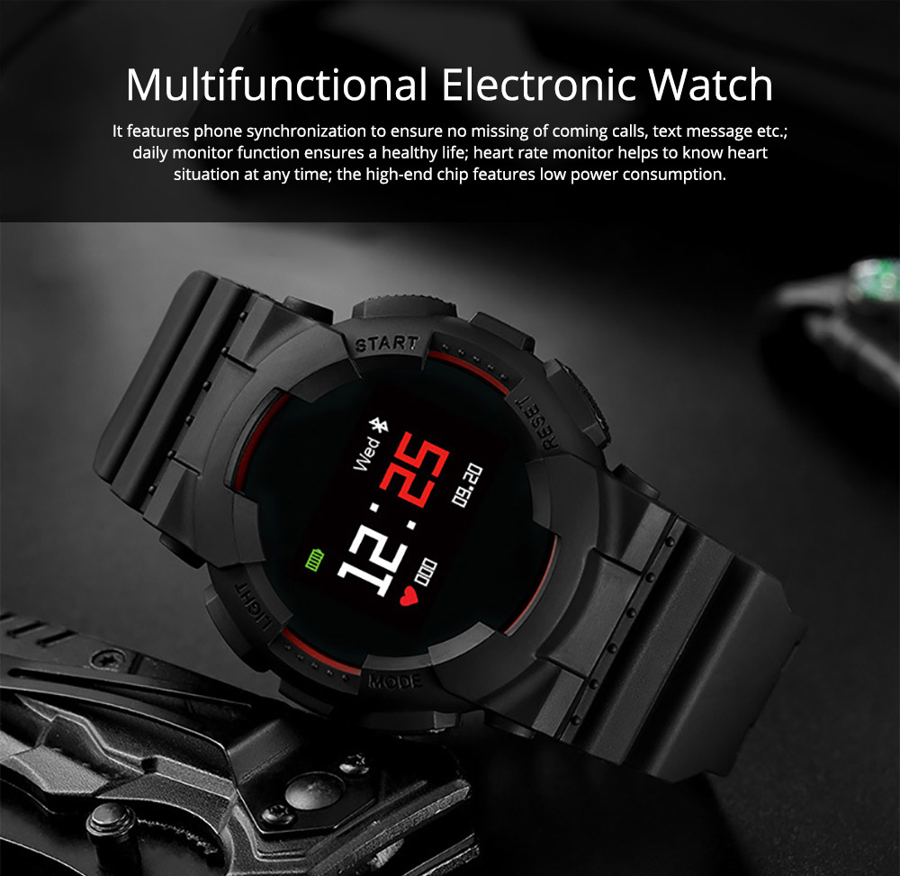New-style Multifunctional Electronic Watch for Men & Women Electronic Watch Waterproof  Steps Counter Support Android IOS System Sportswear 0
