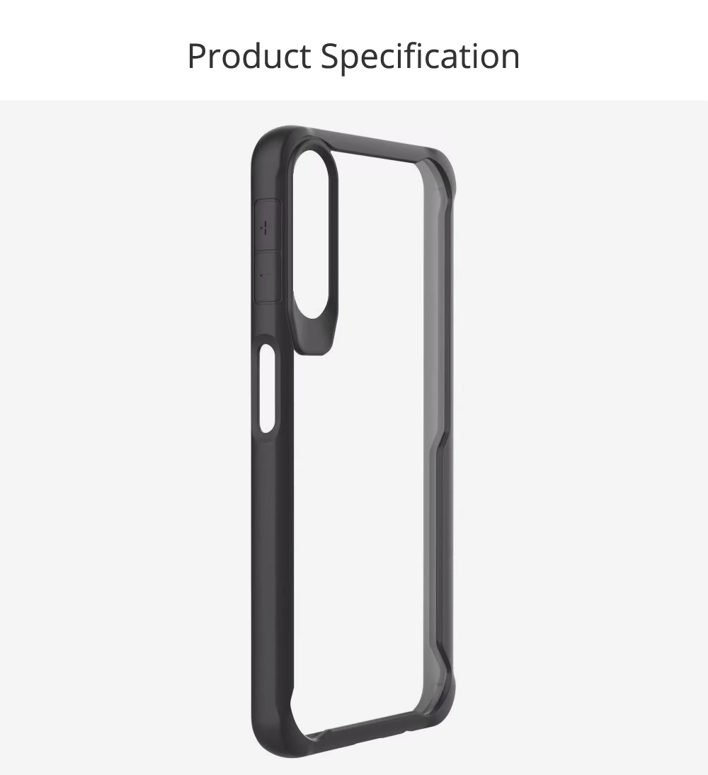 Slim Clear Shockproof Phone Case Soft TPU Case Flexible with Hard PC for Samsung Galaxy A7, A750 6