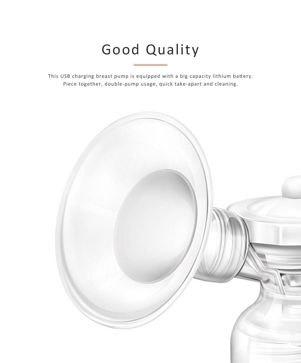Baby Electric Breast Pump Maternal Silicone Breast Pumping Milk Suction Mute Automatic Massage Pump 3