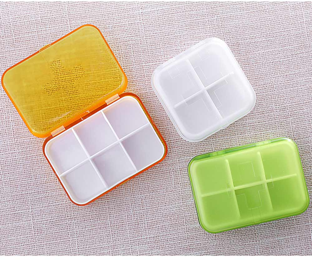 7 DAY Organizer Mini Pill Box Plastic Medicine Box for Pills Vitamin Tablets One-week Pill Organizer Container 5