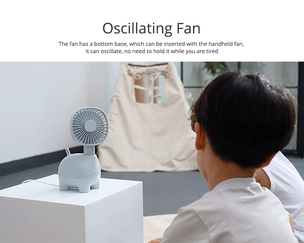 Mini Pet Handheld Fan Oscillating Small Portable Fan with USB Chargeable for Office Table Home Dormitory 6