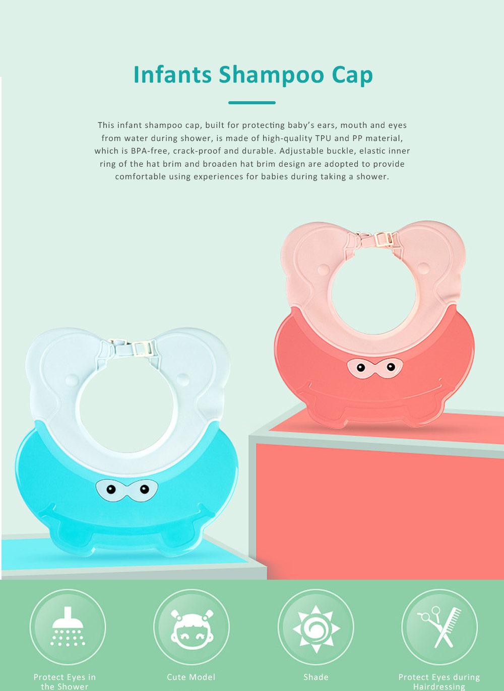 Animal Model Baby Shampoo Cap, Ultra-soft Elastic Ears Eyes Mouth Protection Shower Hat for Infants Shampoo Cap 0