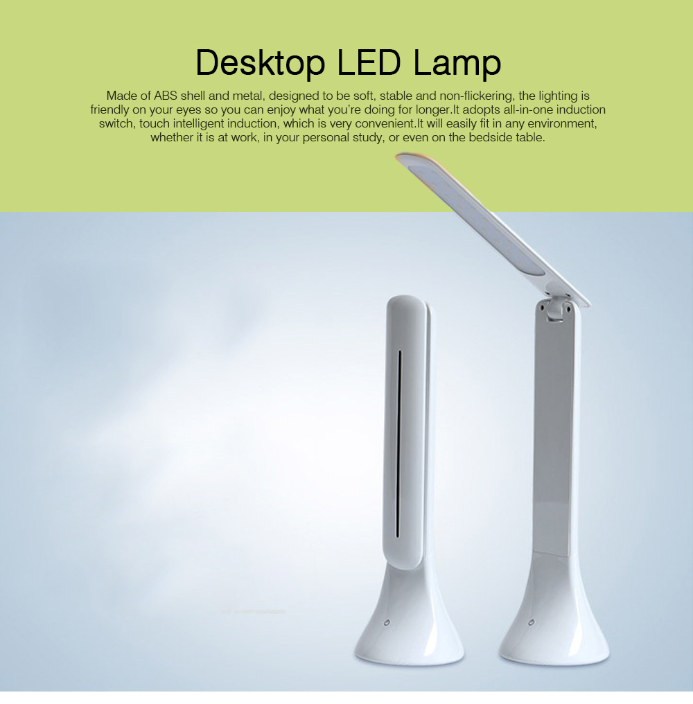 Folding Available Desktop LED Lamp, Eye Caring Table LED Lamp, Adjustable Office Light with USB Charging Port 0