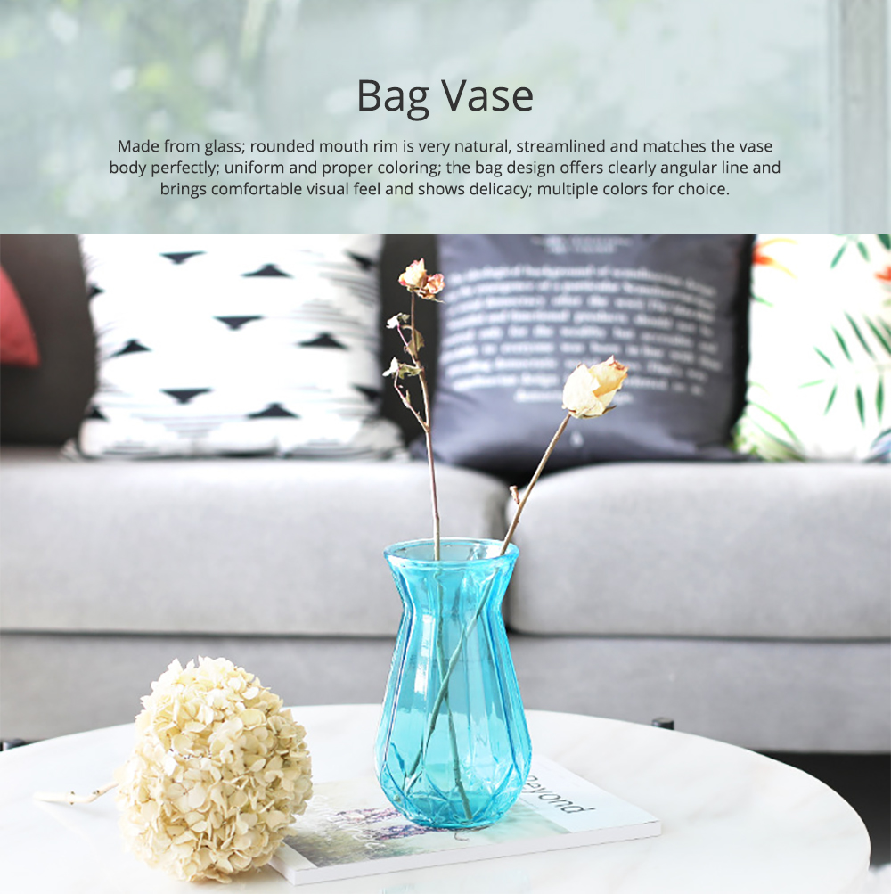 Geometric Vases for Centerpieces Rose Gold Glass Vases for Living Room Decoration Pumpkin Vases for Centerpiece European Style Bag Vase Household Decorative Accessories 0